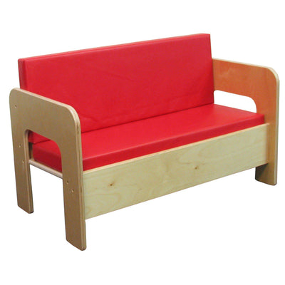 Sofa with Red Cushions