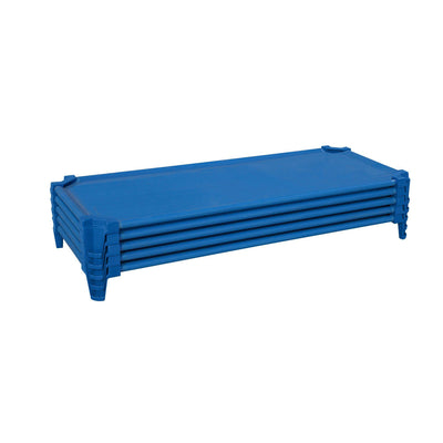 Toddler Cot Set of (5) Factory Assembled, Blue