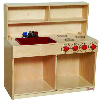 Tot 3-N-1 Kitchen with Red Tray and Knobs