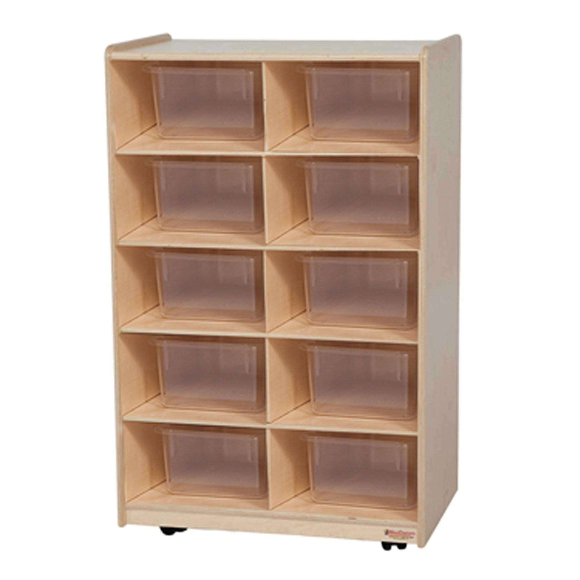 Vertical Storage with (10) Translucent Trays