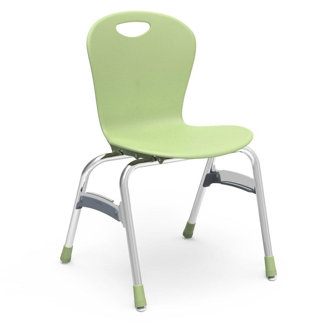 "Zuma Series 4-Leg Stack Chairs-Chairs-18""-Green Apple-"
