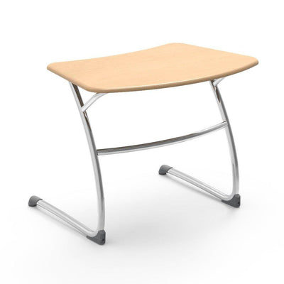 "Zuma Series Student Desks, Hard Plastic Work Surface with Cantilever legs-Desks-25""-Fusion Maple-"