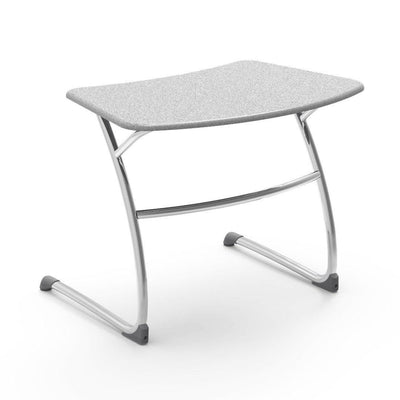 "Zuma Series Student Desks, Hard Plastic Work Surface with Cantilever legs-Desks-25""-Grey Nebula-"