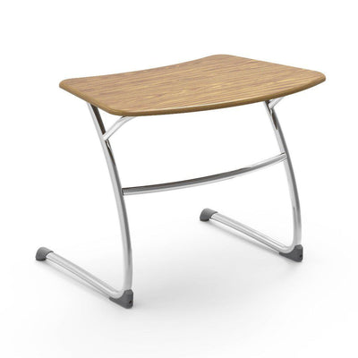 "Zuma Series Student Desks, Hard Plastic Work Surface with Cantilever legs-Desks-25""-Medium Oak-"