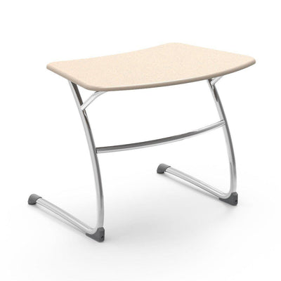 "Zuma Series Student Desks, Hard Plastic Work Surface with Cantilever legs-Desks-25""-Sandstone-"