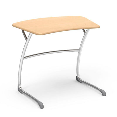 "Zuma Series Student Desks, Hard Plastic Work Surface with Cantilever legs-Desks-27""-Fusion Maple-"