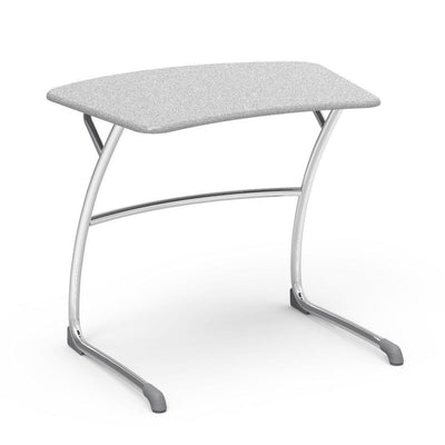 "Zuma Series Student Desks, Hard Plastic Work Surface with Cantilever legs-Desks-27""-Grey Nebula-"