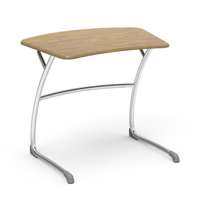 "Zuma Series Student Desks, Hard Plastic Work Surface with Cantilever legs-Desks-27""-Medium Oak-"