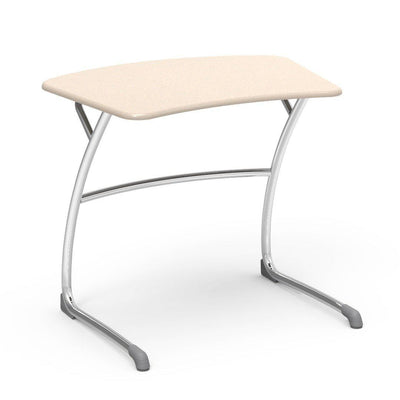"Zuma Series Student Desks, Hard Plastic Work Surface with Cantilever legs-Desks-27""-Sandstone-"