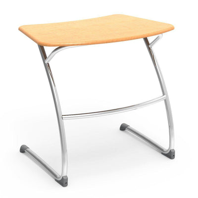 "Zuma Series Student Desks, Hard Plastic Work Surface with Cantilever legs-Desks-29""-Fusion Maple-"