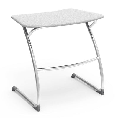 "Zuma Series Student Desks, Hard Plastic Work Surface with Cantilever legs-Desks-29""-Grey Nebula-"