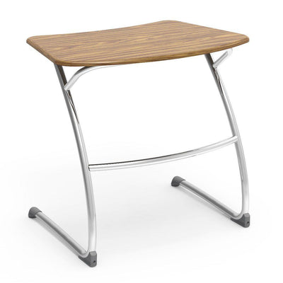 "Zuma Series Student Desks, Hard Plastic Work Surface with Cantilever legs-Desks-29""-Medium Oak-"