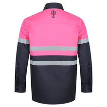 Load image into Gallery viewer, Hot Pink & Navy Hi Viz Work Shirt