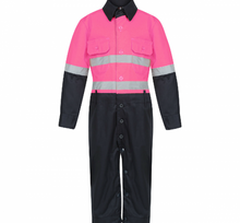 Load image into Gallery viewer, Hot Pink & Navy Jumpsuit (Onesies)