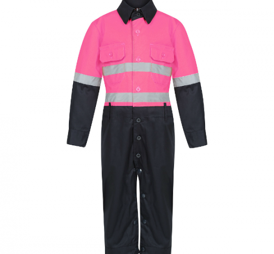 Hot Pink & Navy Jumpsuit (Onesies)