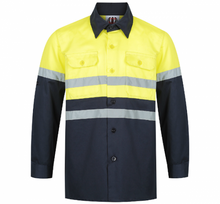 Load image into Gallery viewer, Yellow & Navy Hi Viz Work Shirt