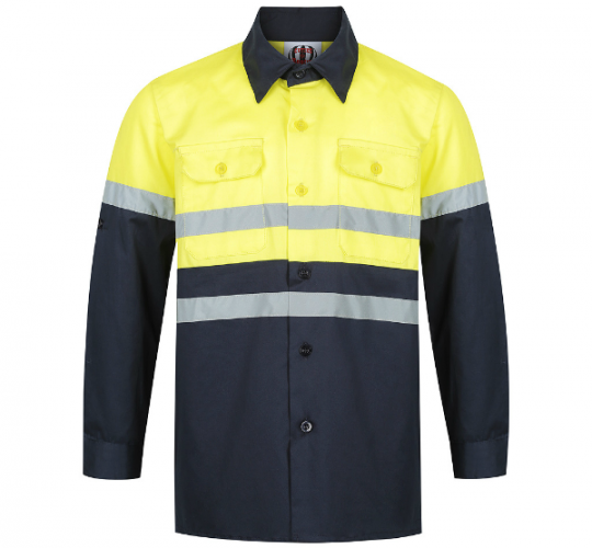 Yellow & Navy Hi Viz Work Shirt