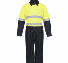 Load image into Gallery viewer, Yellow & Navy Jumpsuit (Onesies)