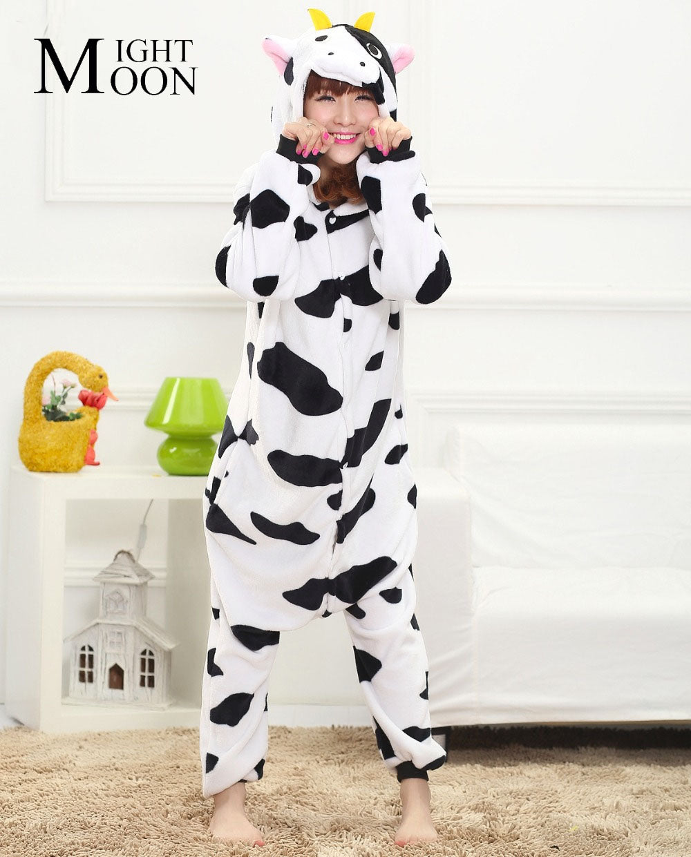 Jumpsuit Cosplay Cartoon Animal (Cow)