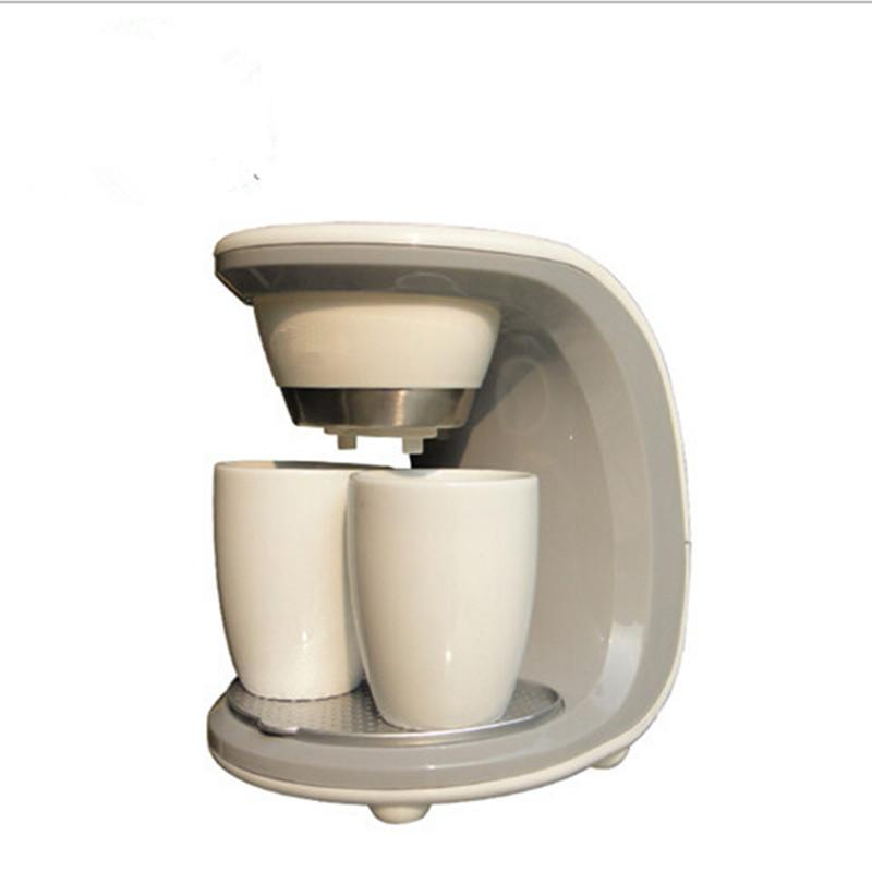 Double Cups Drip Coffee Maker