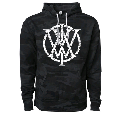 AIW Records black camo monogram hoodie