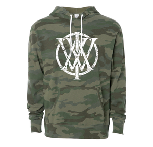 Army green AIW Records hoodie - metal rock merch art is war