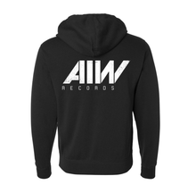 Load image into Gallery viewer, Art Is War Records Black Zip Up Hoodie