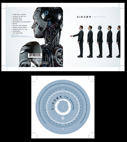 Cinder Album 'The Machine' Blue Retail edition