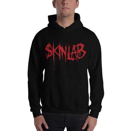 Skinlab official Hooded Sweatshirt - red logo | Art is War records