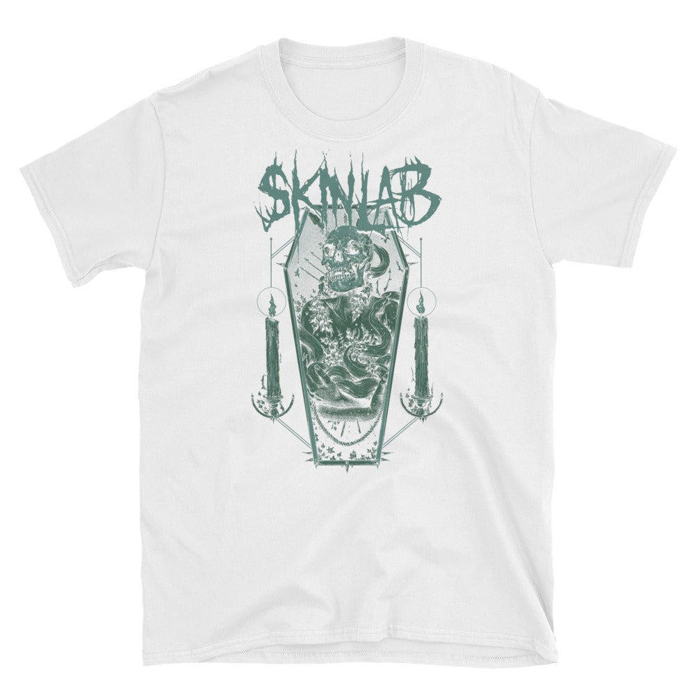 skinlab metal giants dark green coffin unisex t shirt
