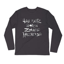 Load image into Gallery viewer, Hair Metal Shotgun Zombie Massacre Long Sleeve Fitted Crew