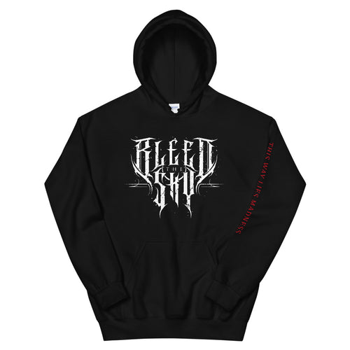 Bleed The Sky - Logo Print Front / This Way Lies Madness Back Unisex Hoodie
