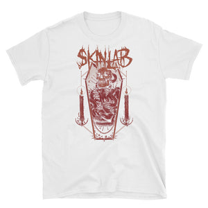 skinlab coffin white groove core heavy metal shirt