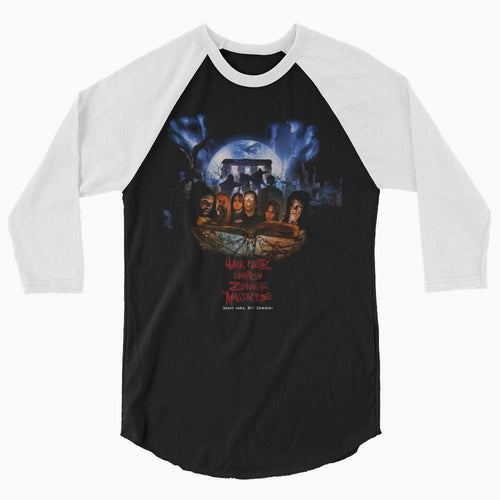 Hair Metal Shotgun Zombie Massacre - 3/4 sleeve official movie baseball shirt