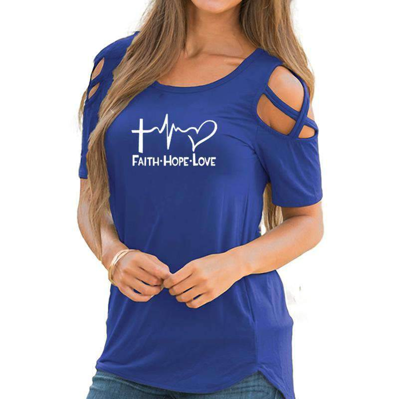 Faith-Hope-Love Chic Fashion Tops