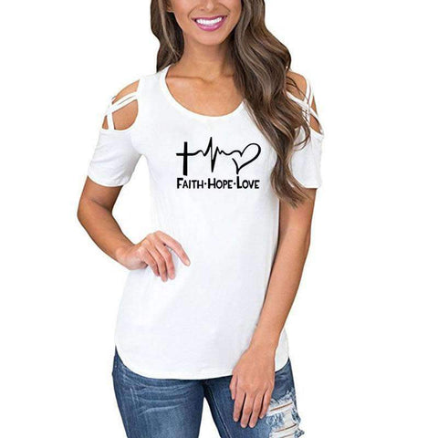 Image of Faith-Hope-Love Chic Fashion Tops
