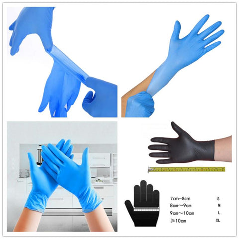 Image of 100 pcs Disposable Latex Gloves