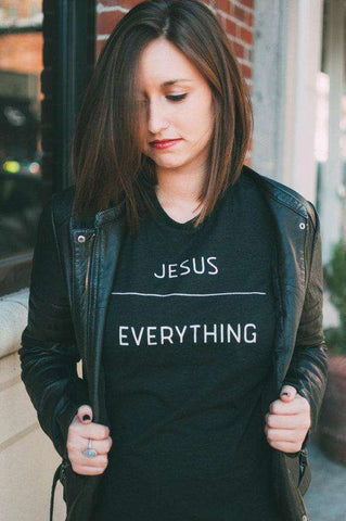 Image of JESUS OVER EVERYTHING T-Shirt Ladies