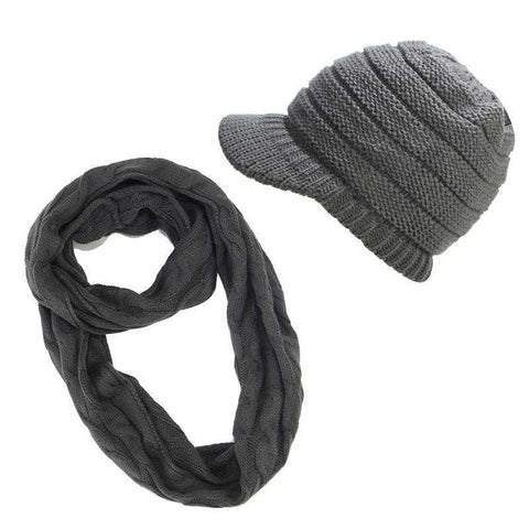 Image of Ponytail Beanies & Scarf set