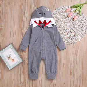 Baby Shark Hooded Romper