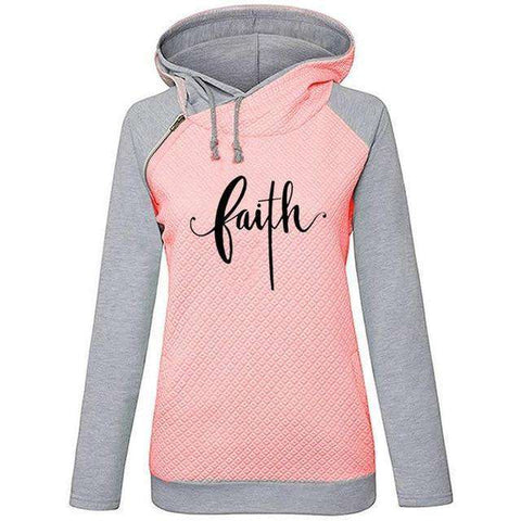 New Fashion Faith Print Hoodie