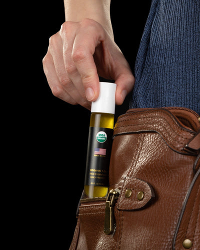 Face Essentials Daily Protect moisturizer has a slim design that fits easily in your purse or bag.