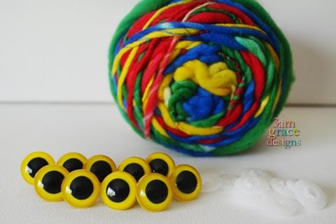 18mm Yellow safety eyes - 5 PAIR