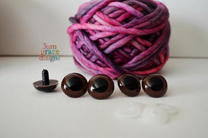 24mm Brown safety eyes - 5 PAIR