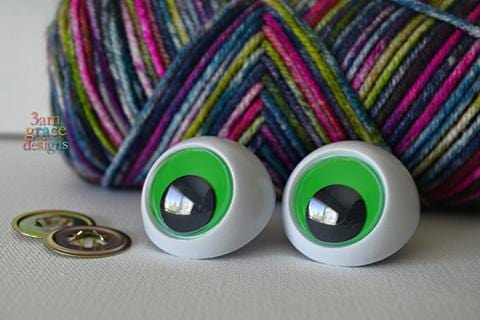 36mm Wiggly Frog Safety Eyes - 1 PAIR
