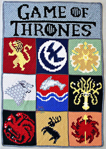 Game of Thrones C2C Crochet Graphgan Blanket