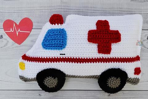 Ambulance Kawaii Cuddler® Crochet Pattern