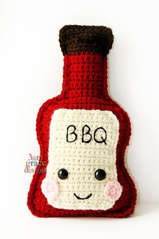 BBQ Sauce Kawaii Cuddler® Crochet Pattern