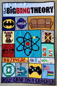 Big Bang Theory C2C Crochet Graphgan Blanket