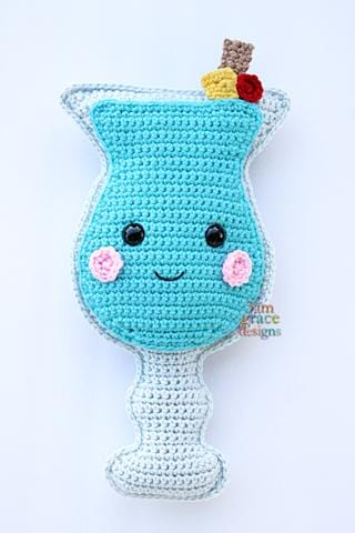 Blue Hawaiian Kawaii Cuddler™ Crochet Pattern